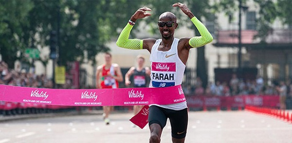 Sir Mo Farah wind London 10,000 in 2018
