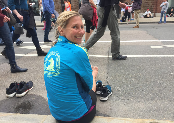 Christine after Boston Marathon