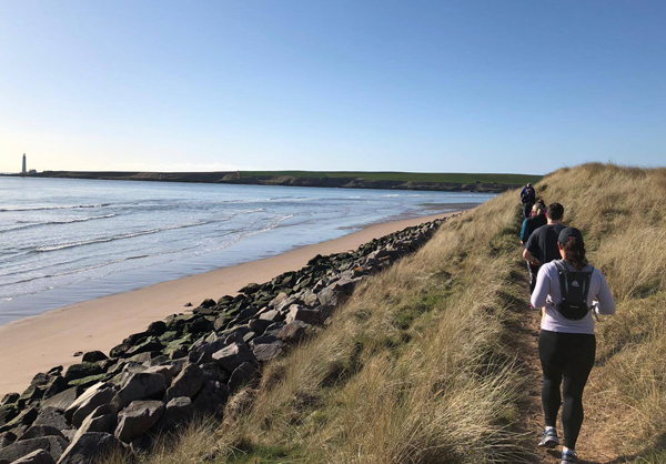 scenic view for runners along Angus coast