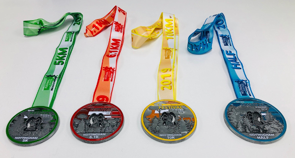 401 Festival Of Running Nottingham Medals