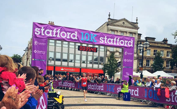 Tom Carnes At The Stafford 10K