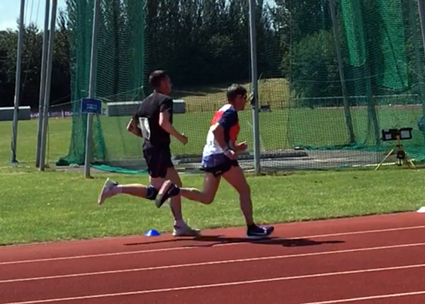 John Owens in 1500m race action