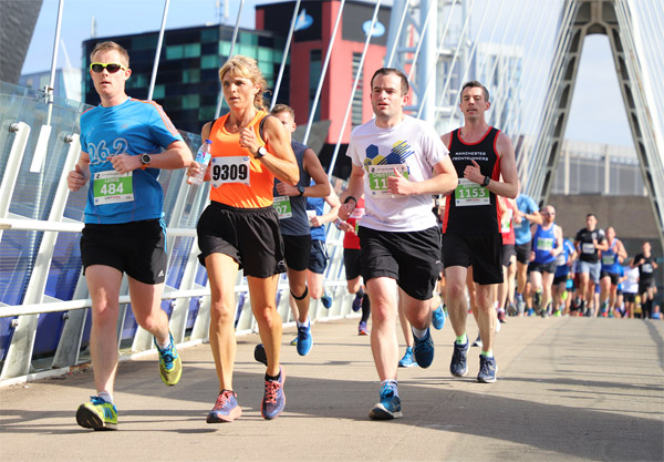 runners at City of Salford 10K