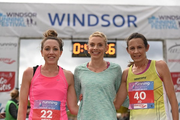 Windsor Womens 10K 2019 top three