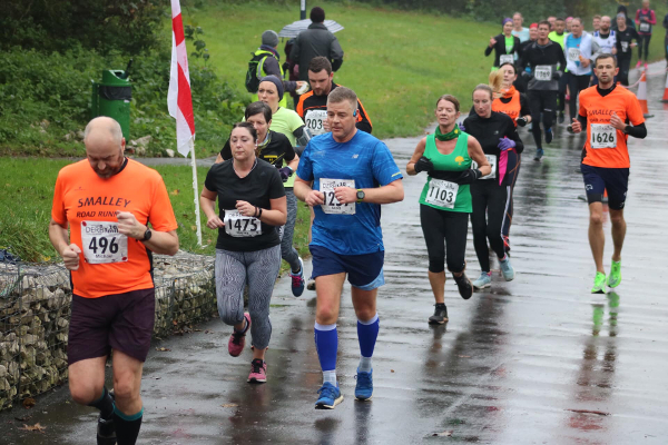 Runners At A Flooded Derby 10 Mile