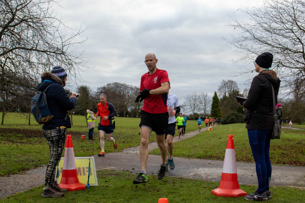 Runners Finishing At Fulbourn Hospital parkrun