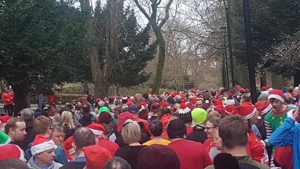 Record Turnout At Walsall Xmas Day parkrun
