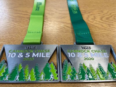 Cannock Chase 10 And 5 Mile Medals