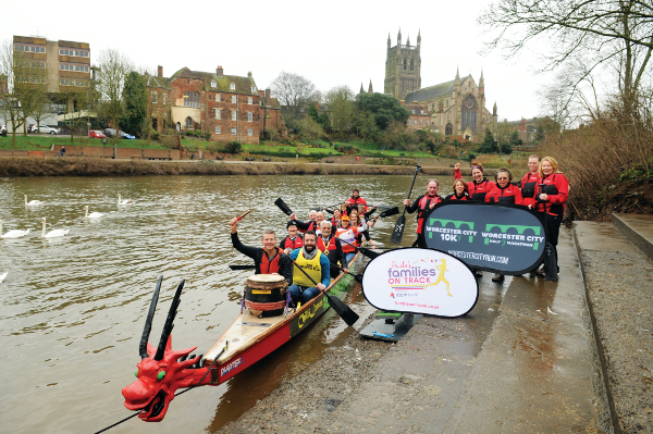 Dragon Boats Launch Worcester City Runs Event