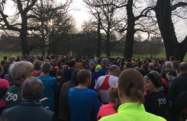 At The Start of The First Wollaton Hall parkrun
