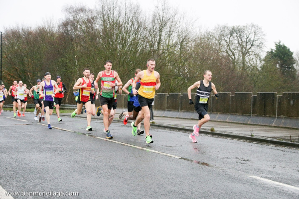 Runners At The Front Of The Brass Monkey Half Marathon