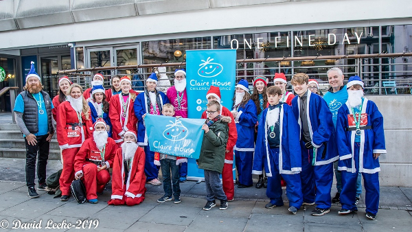 Santa Dash Fundraisers For Claire House Childrens Hospice