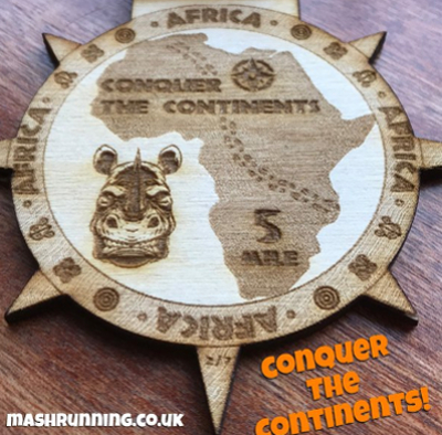 Conquer The Continents Africa Medal