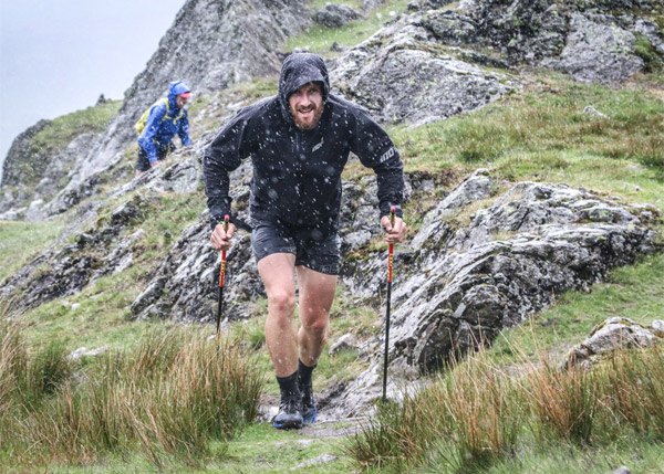 Paul Tierney battling poor weather on the hills